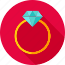 diamond, gem, jewel, love, proposal, ring, wedding icon