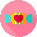 candy, food, heart, love, sweet, sweets icon
