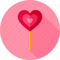 candy, food, heart, lollipop, love, sweets, valentine icon