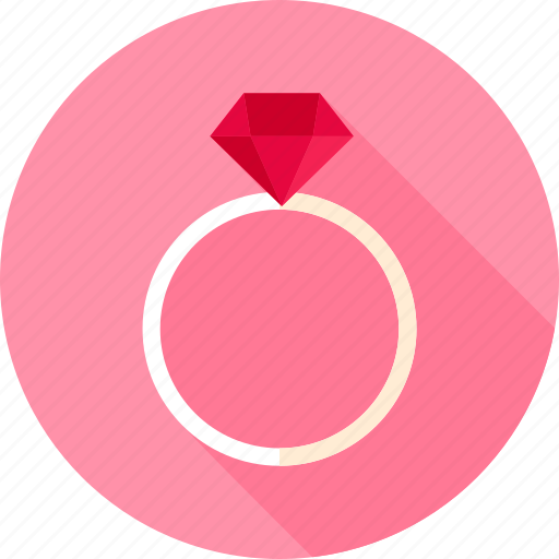 diamond, gem, jewelry, love, ring, valentine, wedding icon