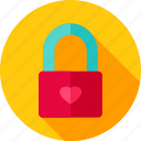heart, lock, love, padlock, security, valentine icon