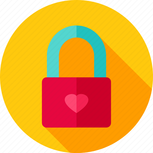 heart, lock, love, padlock, security, valentine icon