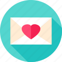 envelope, heart, letter, love, mail, valentine icon