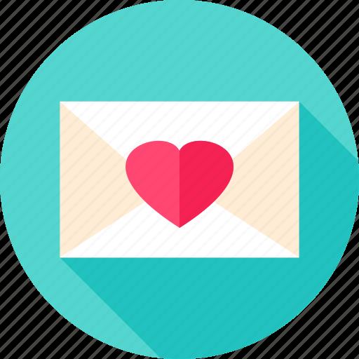 envelope, heart, letter, love, mail, valentine icon