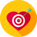 aim, arrow, cupid, heart, love, target, valentine icon
