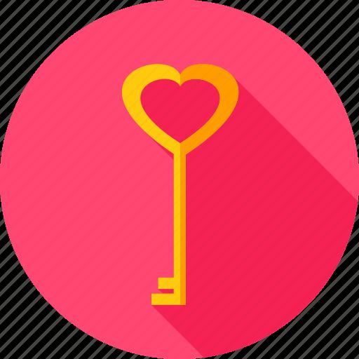 Heart, love, valentine, key icon - Download on Iconfinder