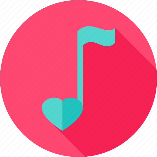 heart, love, music, musical, note, romance, valentine icon