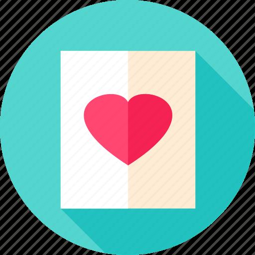 heart, love, postcard, poster, romance, valentine, valentines icon