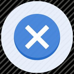 cancel, cross, delete, exit, leave, quit, remove icon