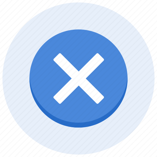 cancel, cross, delete, exit, leave, quit, remove icon