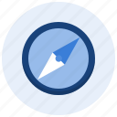 arrow, compass, direction, magnetic, navigation, north, orientation icon