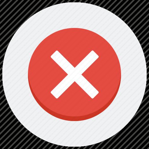 cancel, close, delete, leave, quit, remove icon