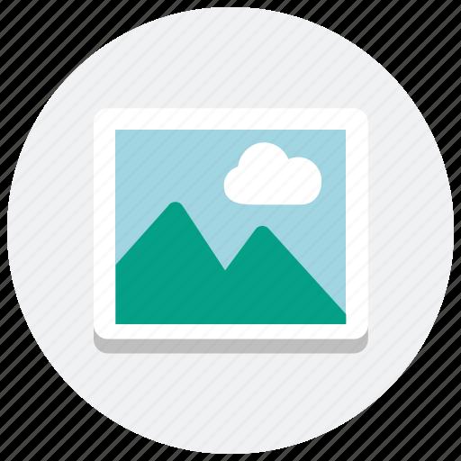 album, image, landscape, media, multimedia, photo, picture icon