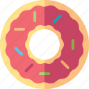 cake, cream, donut, food, sweet icon