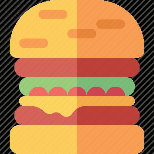 bread, burger, cheese, food, hamburger icon