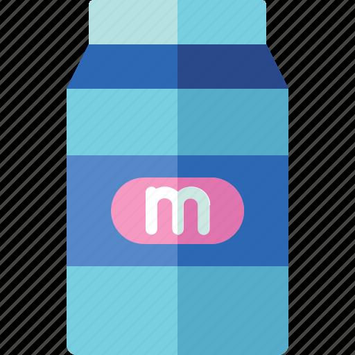 Carton, drink, milk, morning icon - Download on Iconfinder