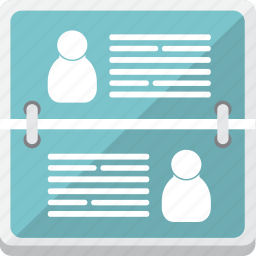 address, business, cards icon