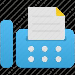 equipment, fax, machine, tools icon