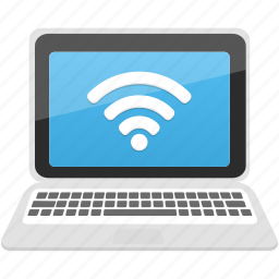 communication, computer, laptop, pc, wifi icon