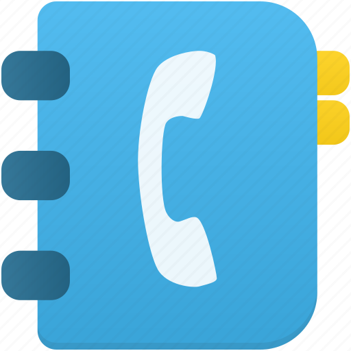 address, contact, contacts, notebook, phone, phonebook, telephone icon