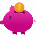 piggy, bank, currency, money, coin, finance, cash