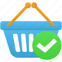 accept, basket, cart, ecommerce, shop, shopping icon