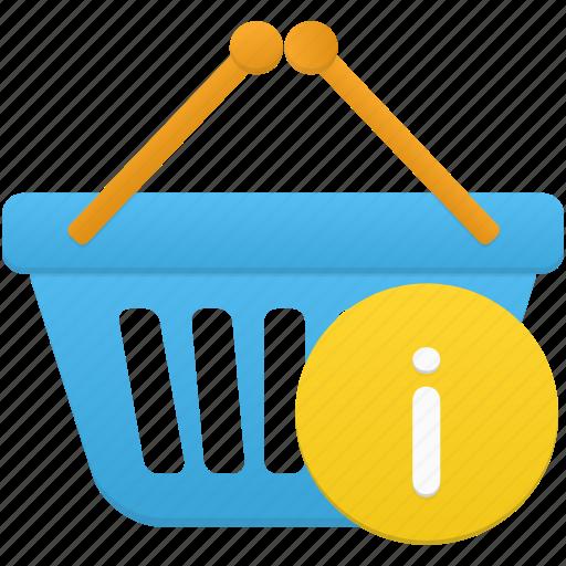 basket, ecommerce, info, shop, shopping icon