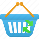 basket, business, buy, ecommerce, refresh, shop, shopping icon