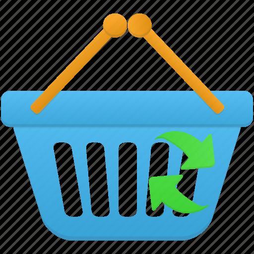 basket, business, buy, ecommerce, refresh, shop, shopping icon