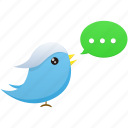 animal, bird, communication, media, social, tweet, twitter icon