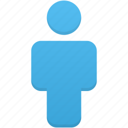 account, blue, human, people, person, profile, user icon