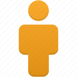 client, human, orange, people, person, profile, user icon
