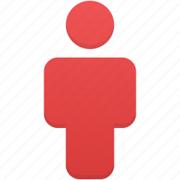 account, human, people, person, profile, red, user icon
