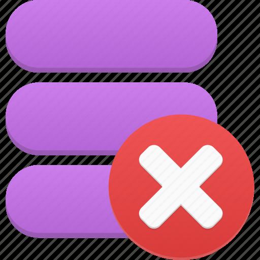 data, database, delete, storage icon