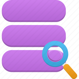 data, database, search, storage icon