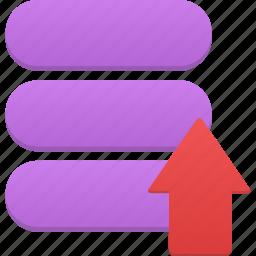 data, database, storage, upload icon