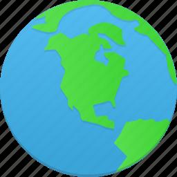 browser, earth, globe, internet, web, world icon