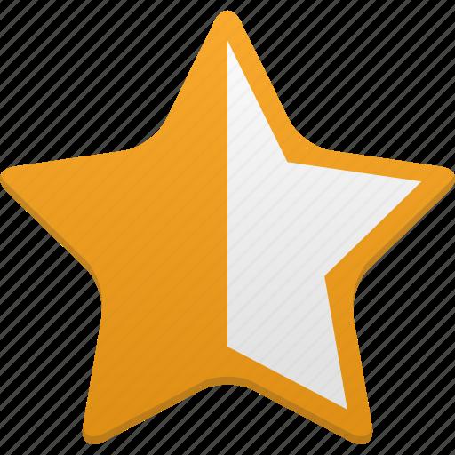 bookmark, favorite, favorites, full, half, star icon