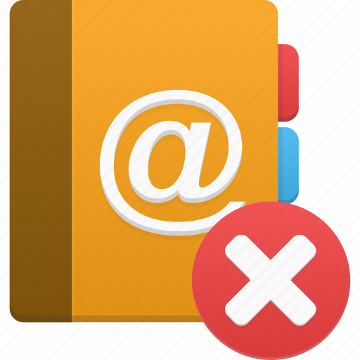 addressbook, book, delete, phonebook icon