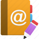 addressbook, book, edit, phonebook icon