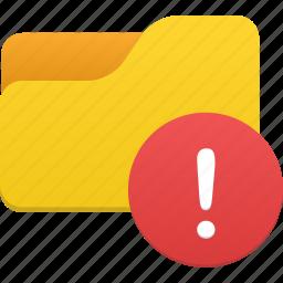 alert, files, folder, warn, warning icon
