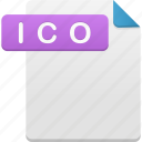 document, file, format, ico icon