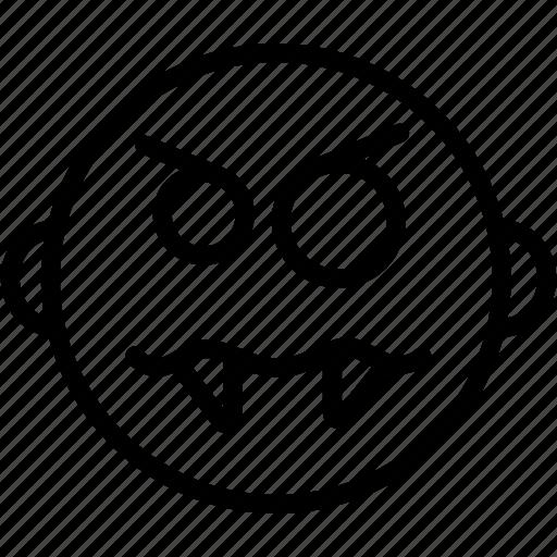 angry, emoji, emoticon, emotion, face, smiley, upset icon