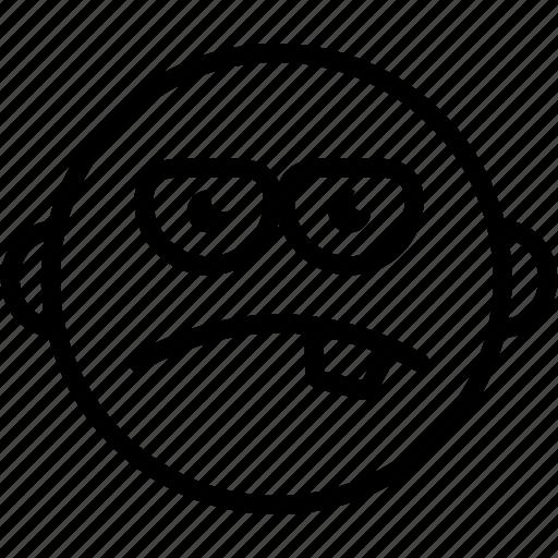 emoji, emoticon, emotion, expression, face, sad, smiley icon