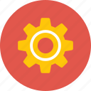 action, cog, settings icon