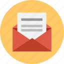 email, envelope, mail, opened icon