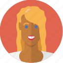 avatar, blonde, face, girl, tanned, woman, young icon