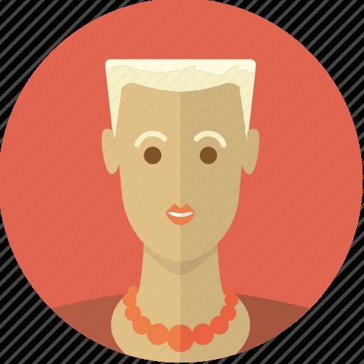 avatar, beautiful, blond, face, girl, short hair, woman icon
