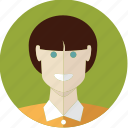 avatar, face, girl, person, short hair, young icon