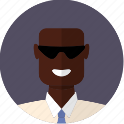 african, avatar, bald, face, male, man, sunglasses icon